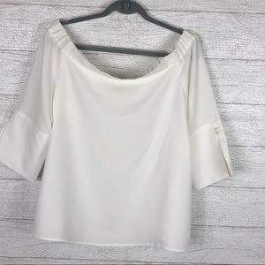Chico's White Women's 3/4 Blouse Size 2 Large